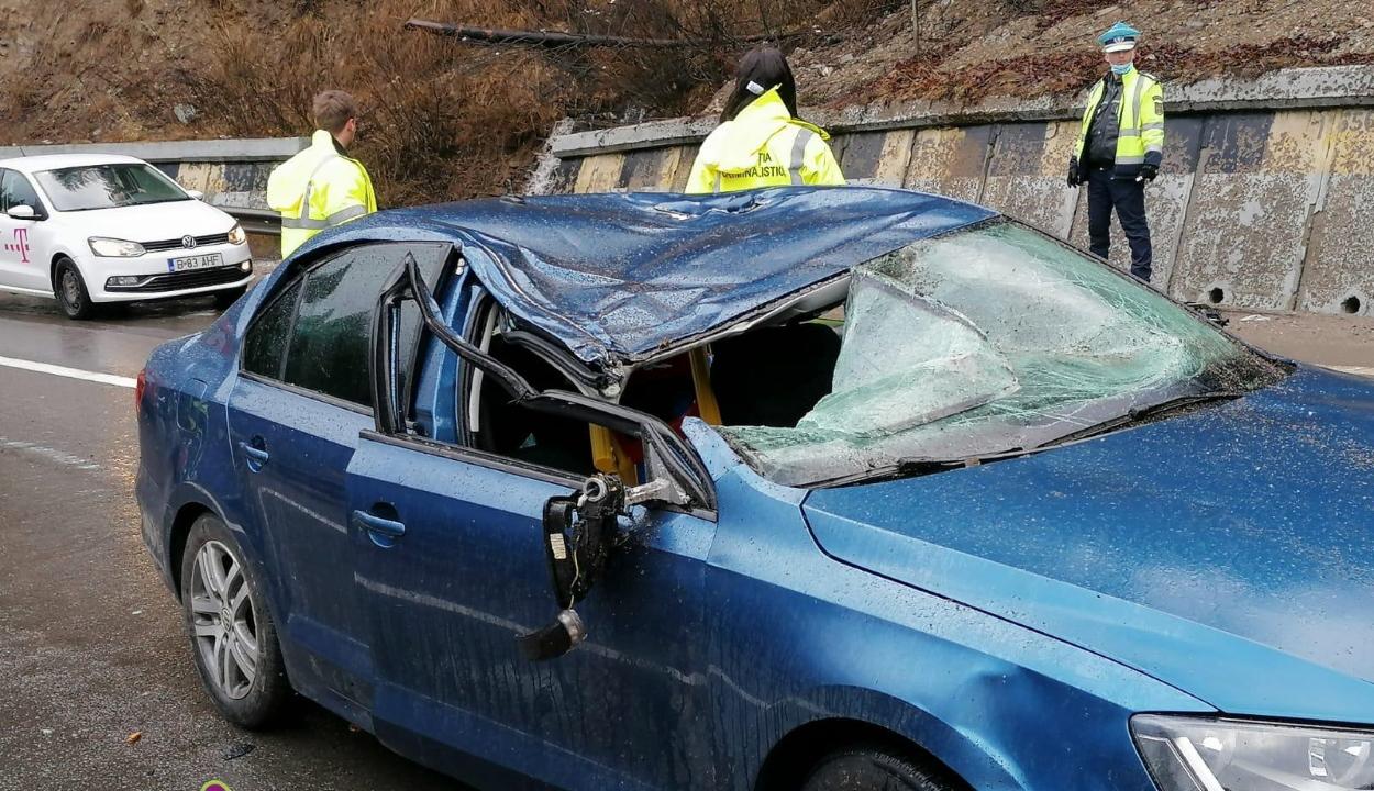 Életét vesztette egy nő, miután a mozgó autójára rádőlt egy fa