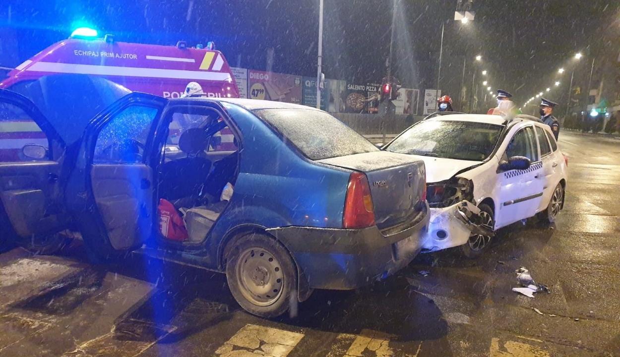 Két autó ütközött szerda este Sepsiszentgyörgyön