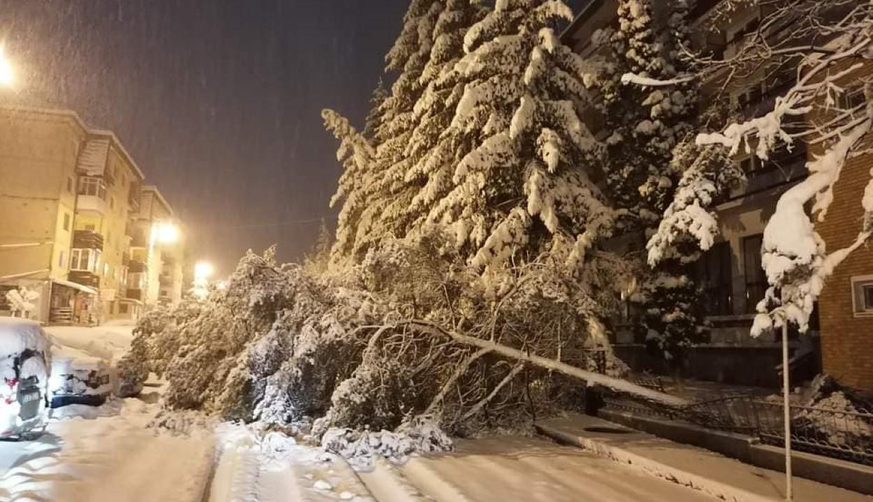 Kovásznán is gondokat okozott a bőséges havazás