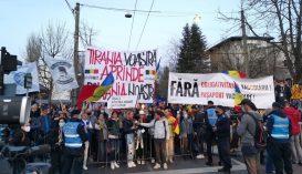 Ismét tüntettek a járványügyi intézkedések ellen Bukarestben