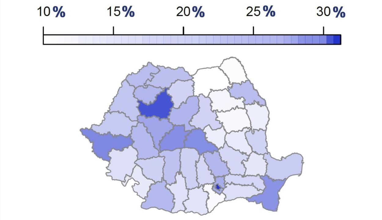 A sereghajtók között van Kovászna megye a beoltottak arányát tekintve