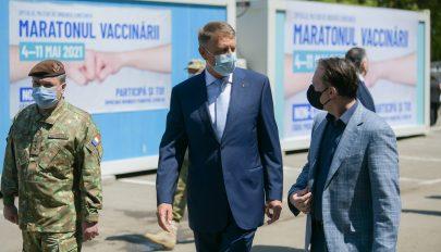 Iohannis: csütörtökön meg fogja haladni a 100 ezret a napi beoltottak száma