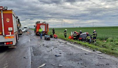 Súlyos baleset történt a rétyi kereszteződés közelében