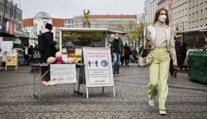 A németek több mint 40 százaléka a világjárvány után is viselne maszkot