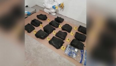 Tizenöt kiló marihuánát találtak Budapesten két román állampolgárnál