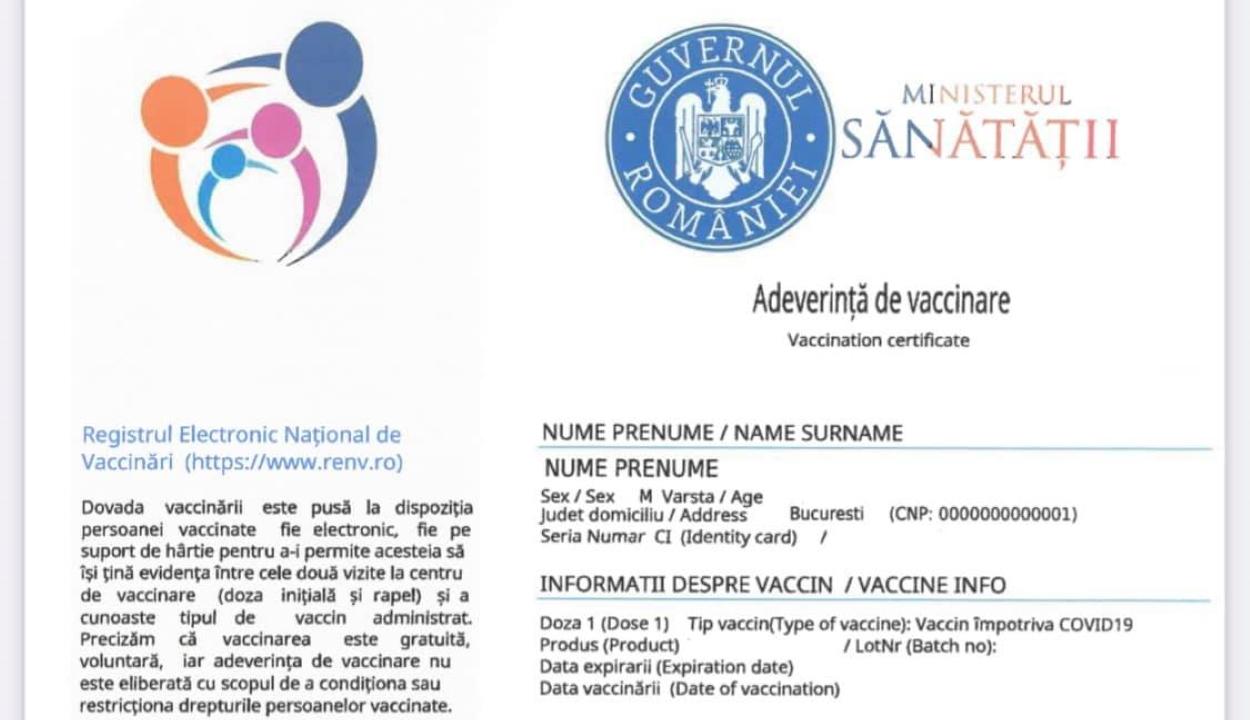 Egészségügyi alkalmazottak segítségével állítottak ki hamis oltási igazolványokat Prahova megyében