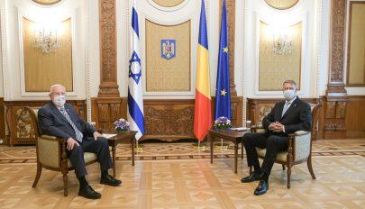 A Cotroceni-palotában fogadta Iohannis az izraeli elnököt