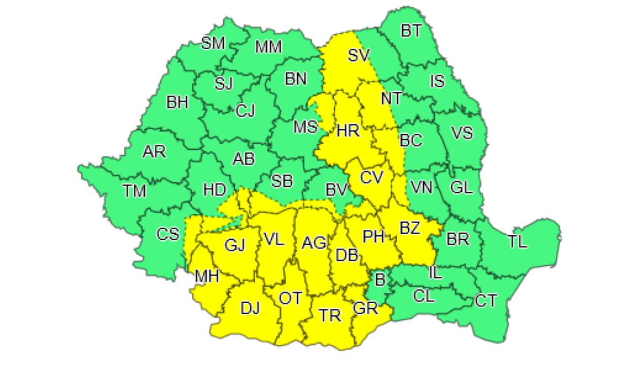 Fokozott légköri instabilitás 23 megyében kedd estig