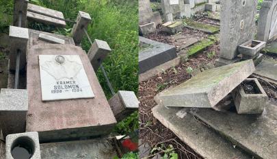 Sírokat rongáltak meg a ploiești-i zsidó temetőben