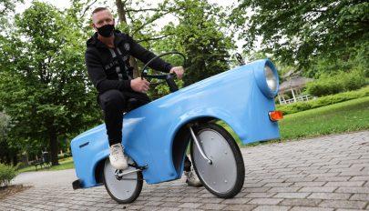 Trabant-biciklit készített egy magyar ezermester