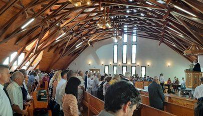 A templomépítőkre emlékeztek