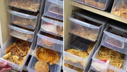 Soha meg nem romló ételeket gyűjt szekrényében egy dietetikus
