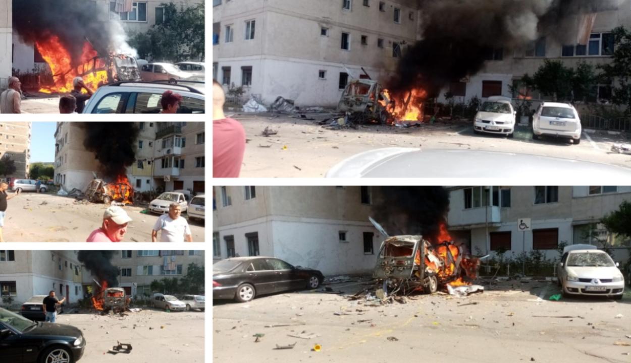 Felrobbant egy furgon Râmnicu Vâlceán