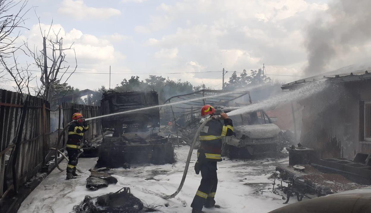 Tűz ütött ki egy gázpalackokat töltő cégnél, két súlyos sérült van