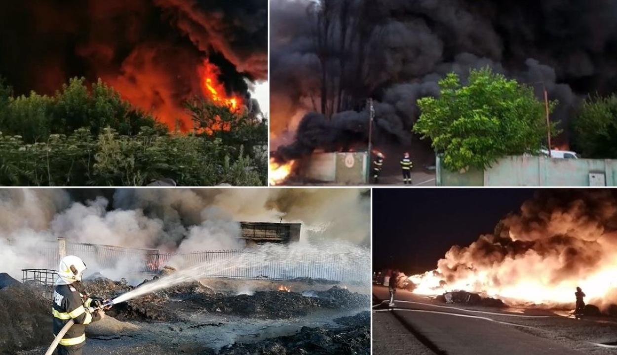 Mérgező füst tart Magyarország felé egy nagyszalontai hulladéklerakatnál keletkezett tűzből