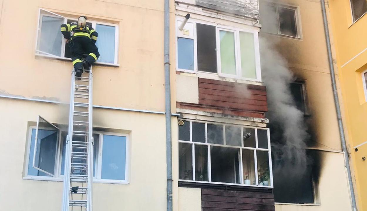 Tűz ütött ki egy sepsiszentgyörgyi tömbházlakásban