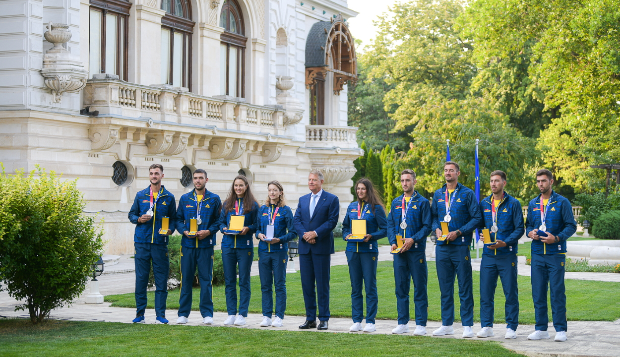 Kitüntette Iohannis elnök az olimpiai érmet szerzett román sportolókat