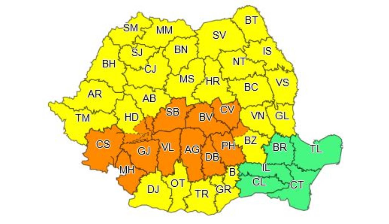 Másodfokú esőriadó lép érvénybe szombat délutántól több erdélyi megyében