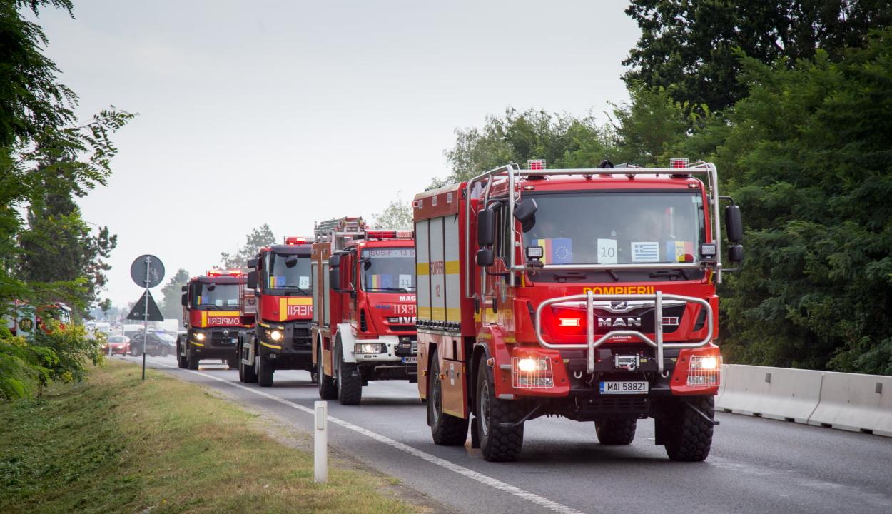 Több mint száz román tűzoltó indult Görögországba az erdőtüzek oltásában segíteni