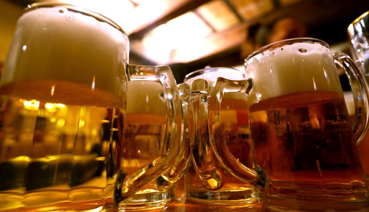 Egy tonnányi sört lopott el két jászvásári férfi egy szemeteskuka segítségével