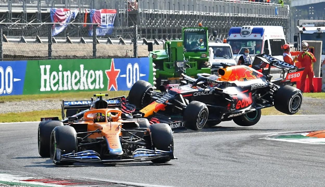 Forma-1: Ricciardo nyert Monzában, Hamilton és Verstappen kiesett
