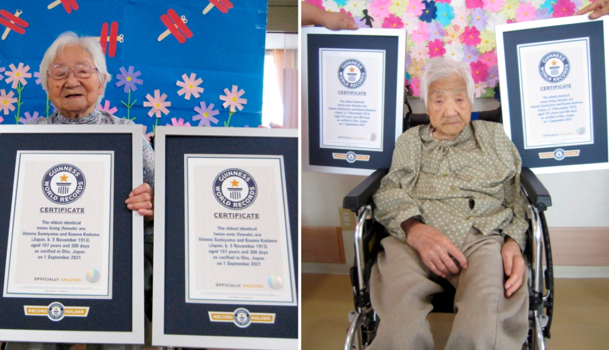 107 éves a világ legidősebb ikerpárja