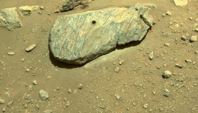 Begyűjtötte az első kőzetmintát a NASA marsjárója, a Perseverance
