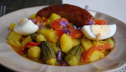 Krumplis okra indiai módra