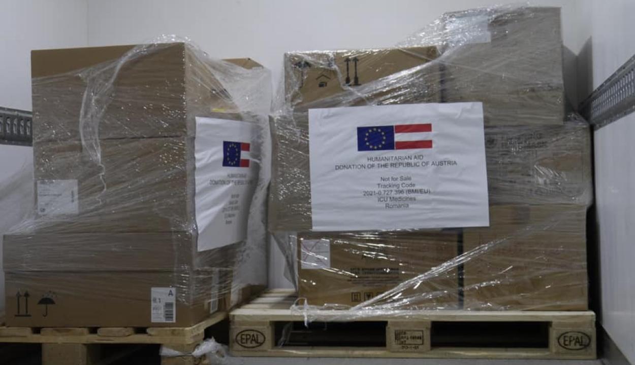 Több mint ezer doboz Covid-gyógyszert küldött Ausztria Romániának