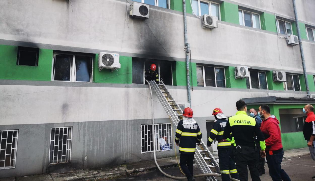 Tűz ütött ki a konstancai járványkórház intenzív osztályán, heten meghaltak